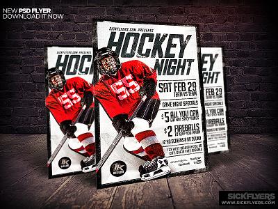 Hockey Flyer Template PSD hockey flyer template psd hockey hockey game bar