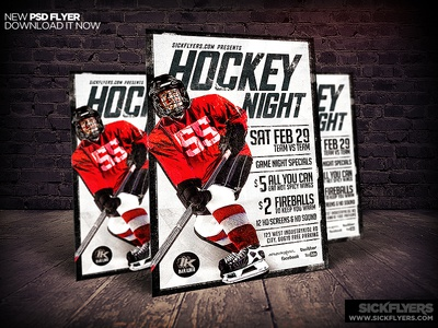 Hockey Flyer Template PSD by Industrykidz - Dribbble