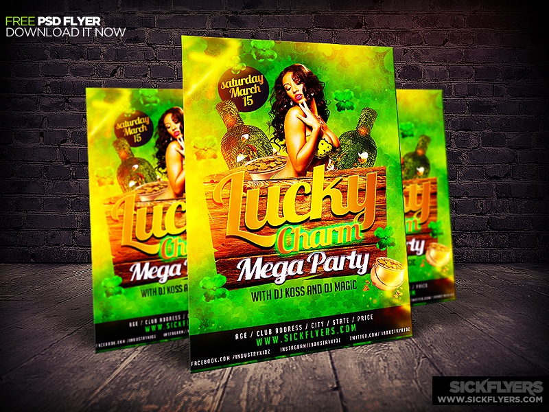 Free St Patrick's Day Flyer Template PSD free st patricks day flyer template psd