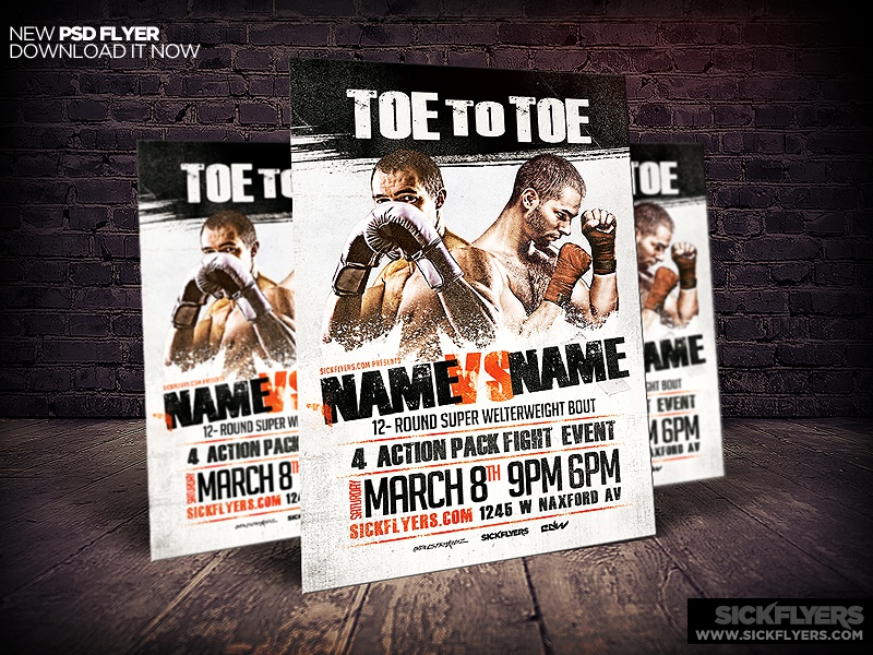 Boxing Flyer Template Psd By Industrykidz Dribbble Dribbble