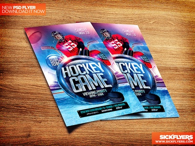 Hockey Flyer Template Psd By Industrykidz Dribbble