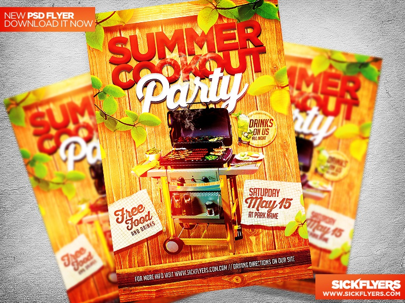 summer cookout flyer template psd by industrykidz dribbble dribbble