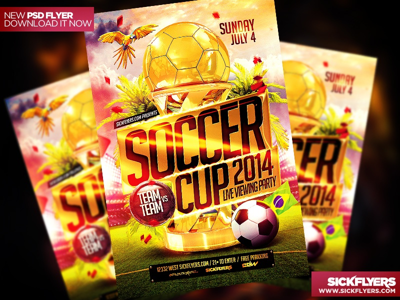 Soccer Flyer Template Psd By Industrykidz  Dribbble