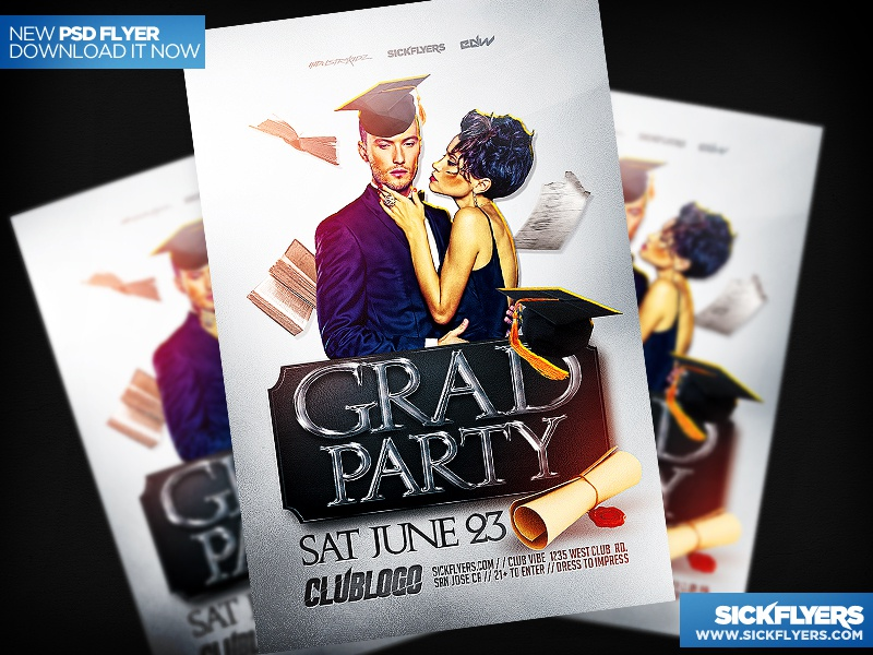 Graduation Party Flyer Template By Industrykidz - Dribbble