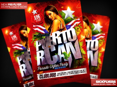 Puerto Rican Party Flyer Template PSD puerto rican party flyer template psd parade