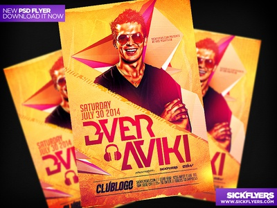 House Music DJ Flyer Template PSD V2 house music dj flyer template psd nightclub
