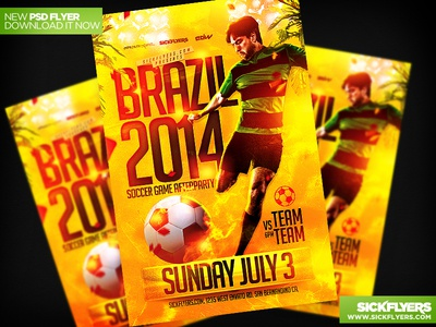 Fifa World Cup Soccer Flyer Template PSD fifa world cup soccer flyer template psd brazil poster