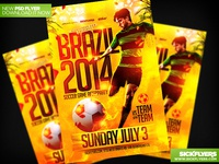 Fifa World Cup Soccer Flyer Template PSD