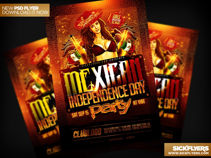 Mexican Independence Day Flyer Psd By Industrykidz  Dribbble