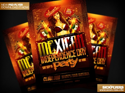 Mexican Independence Day Flyer PSD mexican independence day flyer