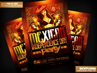 Mexican Independence Day Flyer PSD