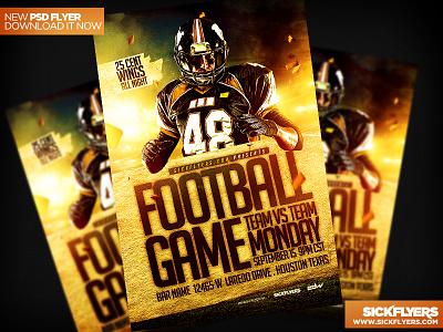 Football Flyer Template PSD football flyer template psd football flyer template psd