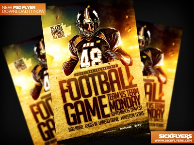 Football Flyer Template PSD football flyer template psd football flyer template psd