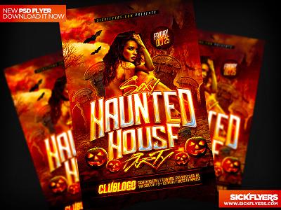 Haunted House Flyer PSD haunted house flyer psd haunted house flyer