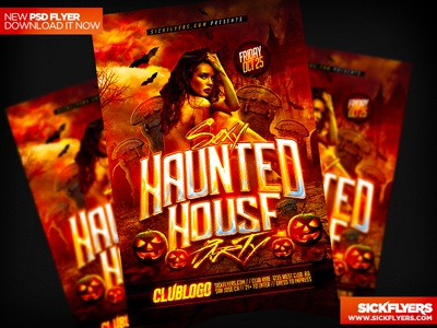Haunted House Flyer PSD haunted house flyer psd haunted house flyer