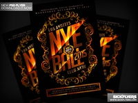 New Years Flyer PSD