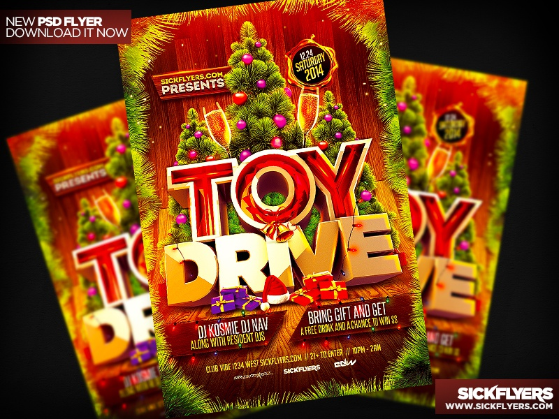 toy drive flyer template psd by industrykidz dribbble dribbble