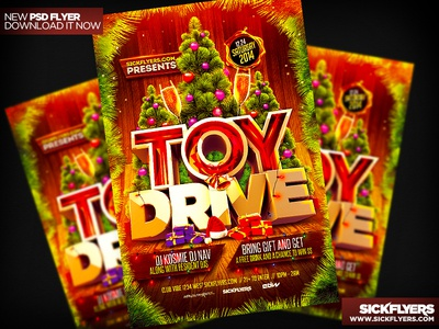 Toy Drive Flyer Template PSD by Industrykidz - Dribbble