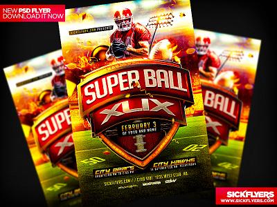 Superbowl XLIX Flyer PSD superbowl xlix flyer psd superbowl xlix football american football