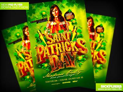St Patricks Day Flyer Template PSD st patricks day flyer template psd green