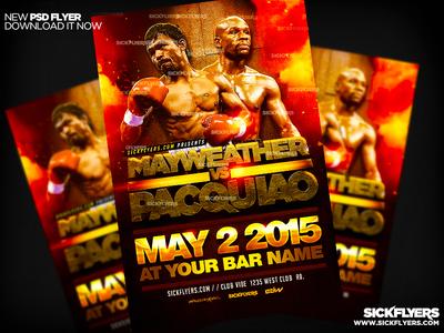 Pacquiao Mayweather Flyer PSD pacquiao mayweather flyer psd pacquiao mayweather poster boxing boxing glove