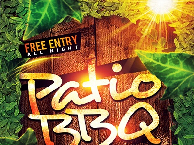 patio bbq cookout flyer spring party backyard bar bbq beach party clean club cookout food foods