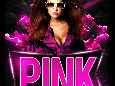 pink party flyer psd flyer by industrykidz dribbble dribbble