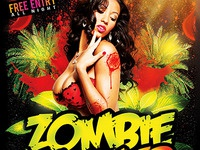 Zombie Summer Bash PSD FLYER