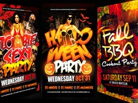 October Psd Flyer Templates