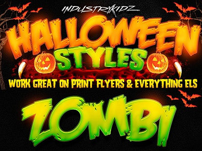 Halloween Photoshop Layer Styles  app bloody candy colourfull creepy dark dramatic evil flyer halloween halloween party horror intense layer styles movie mummy mysterious set slimy styles text effects vampire video game zombie
