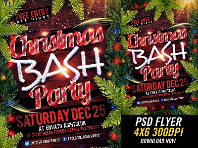 Christmas Party Flyer Templates By Industrykidz On Dribbble