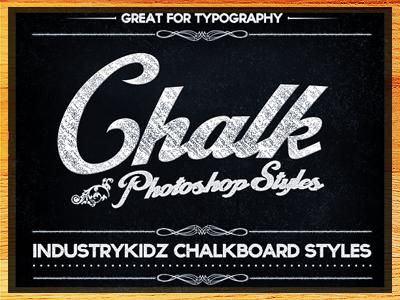 Chalkboard Photoshop Layer Styles by Industrykidz - Dribbble