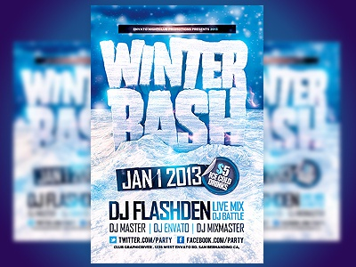 Winter Bash Psd Flyer Template By Industrykidz  Dribbble