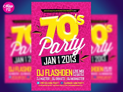 Retro Party Flyer Template By Industrykidz - Dribbble