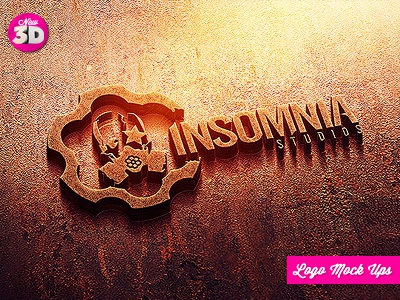 Industrial Photorealistic 3d Logo Mock Up By Industrykidz