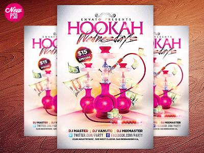 Hookah Lounge PSD Flyer arabian hookah bar cigars club coals hookah hookah bar hookah event hookah flyer hookah lounge hookah lounge flyer hookahs industrykidz pink shisha tabacco
