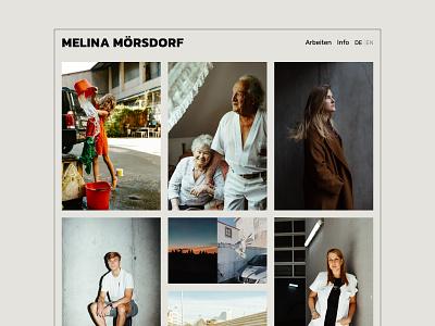 Melina Mörsdorf clean photographer minimal portfolio website webdesign