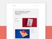 New portfolio design