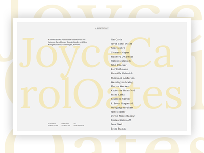 A Short Story Website typography writing minimal clean webdesign design