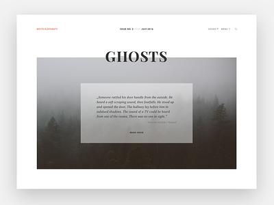 Header concept writing typography header magazine clean minimal webdesign
