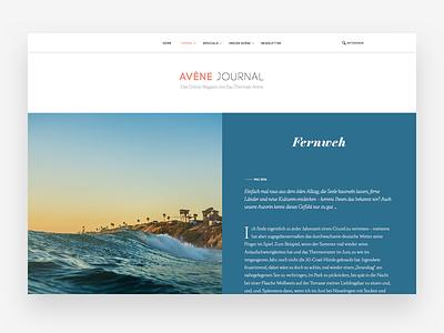 Article type color header magazine article clean webdesign design