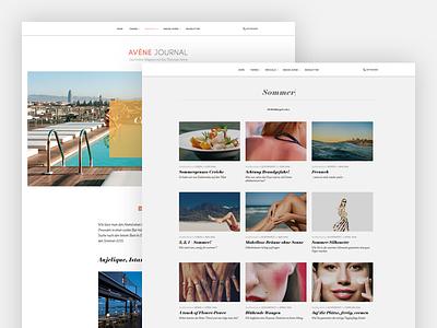 Update Avène Journal search articles magazine white clean webdesign design