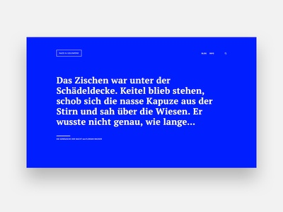 Blog header section blue typography header blog clean minimal webdesign
