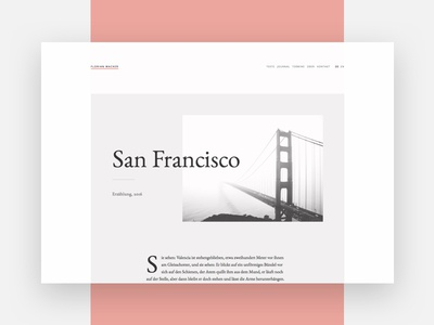 Story page story writing portfolio clean white website webdesign