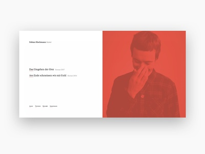 Portfolio design writing portfolio clean red website webdesign