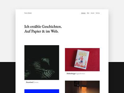 Personal portfolio white writing minimal design portfolio website webdesign