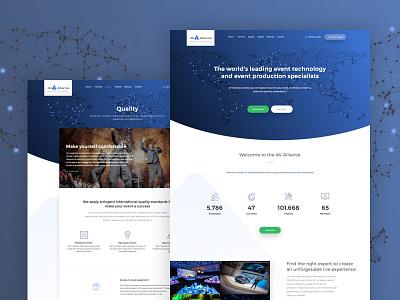 AV Alliance clean blue website redesign webdesign