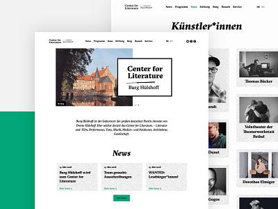 Burg Huelshoff typography white clean minimal design website webdesign