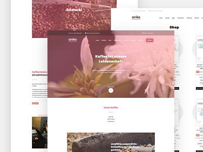 aniko webshop white clean webdesign website
