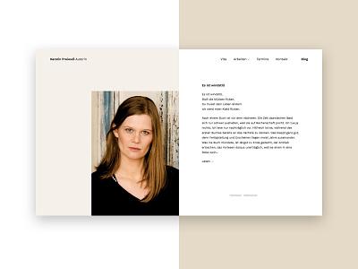 Portfolio website writing artist white clean portfolio webdesign website